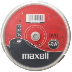 Dvd-Rw Maxell Spindle 10 Τεμαχια 4.7Gb/2X