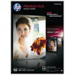 Χαρτι Inkjet Α4 300Gr Premium Photo Plus Semi-Glossy 20 Φυλλα Cr673A Hp
