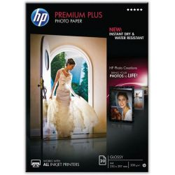 Χαρτι Inkjet Α4 300Gr Premium Plus Photo Glossy 20 Φυλλα Cr672A Hp
