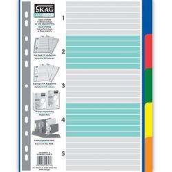 Διαχωριστικα Σετ 5 Θεματα Πλαστικα Χρωματιστα Eco Skag