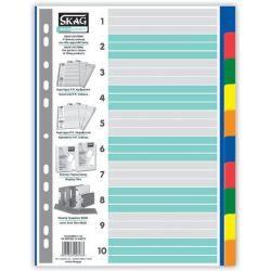 Διαχωριστικα Σετ 10 Θεματα Πλαστικα Χρωματιστα Eco Skag