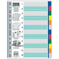 Διαχωριστικα Σετ 12 Θεματα Πλαστικα Χρωματιστα Eco Skag