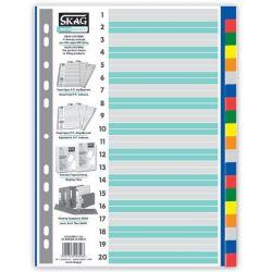 Διαχωριστικα Σετ 20 Θεματα Πλαστικα Χρωματιστα Eco Skag