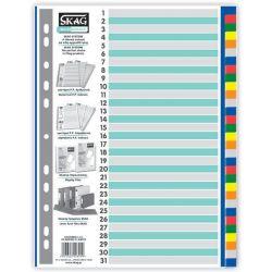 Διαχωριστικα Σετ 31 Θεματα Πλαστικα Χρωματιστα Eco Skag