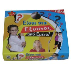 Επιτραπέζιο παιχνίδι είσαι πιο έξυπνος απο εμένα υ7,5x42x25 εκ. A-toys 0113