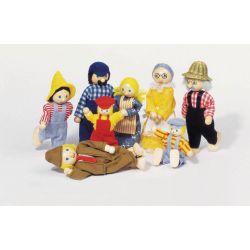 Σετ οικογένεια αγροτών με 8 κούκλες Goki 23774