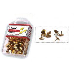 Πινέζες χρυσές Σετ 12 Συσκευασίες τεμαχια Foska