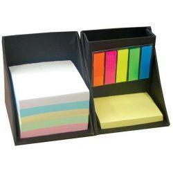 Κύβος-μολυβοθήκη με χαρτάκια & σελιδοδείκτες μαύρο 9x9x9 εκ. NEXT 22245