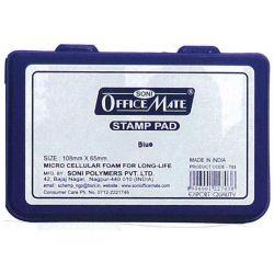 Ταμπόν μπλε 10.8χ6.5 εκ. 10 τεμαχια Officemate