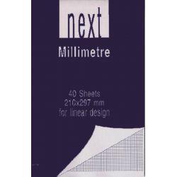 Μπλοκ Μιλιμετρέ Din A4 80gr NEXT 01135