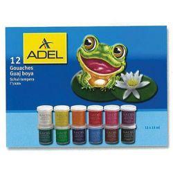 Τέμπερες 12 Χρωμάτων 15  ml Adel 21626