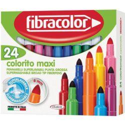 Μαρκαδόροι Colorito Maxi 24 Χρώματα Fibracolor 22468