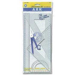 Σετ Χάρακες 4 τεμ. με διαβήτη & μολύβι Ark 29012