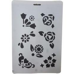 Στένσιλ Α4 Λουλούδια NEXT 27754