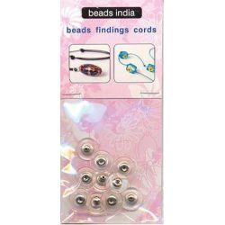 Κούμπωμα για Σκουλαρίκι 11x6mm Ασημί 3 τεμάχια Beads India 27922