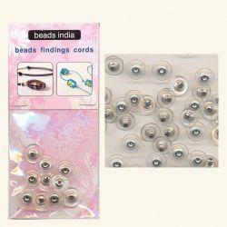 Κούμπωμα για Σκουλαρίκι 11x6mm Ασημί Beads India 27922