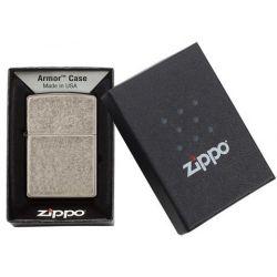 Αναπτηρας Zippo Antique Silver Plate Armor 28973