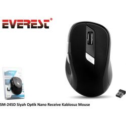 Mouse WIR. 2.4GHz Mini OPT. USB 1000/1600dpi Black