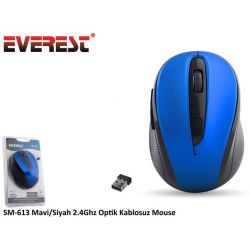 Mouse WIR. 2.4GHz Opt. 1200dpi Blue/Black