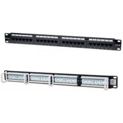 Patchpanel 24 Port Cat5e UTP Μαυρο 513555 Manhattan