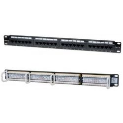 Patchpanel 24 Port Cat6 UTP Μαυρο 520959 Manhattan