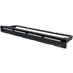 Keystone Patchpanel 1U 24P w/shutters 720427 Manhattan