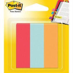 Σελιδοδεικτες Χαρτινοι Χρωματιστοι 3 X 50 Φυλλα 22.2X73Mm 3Μ