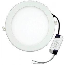 Φωτιστικο Led Χωνευτο Slim Λευκο Φ200 16W 3000K 240V Ferrara 145-75000