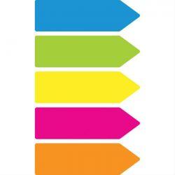 Σελιδοδεικτες Sticky Film 5 Χρωματα Νεον X 25 Φυλλα
