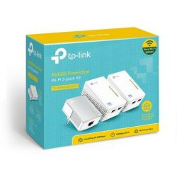 Power Line Adapter KIT 2xTL-WPA4220(w/A.POINT) & 1xTL-PA4010 TL-WPA4220TKIT Tp-Link