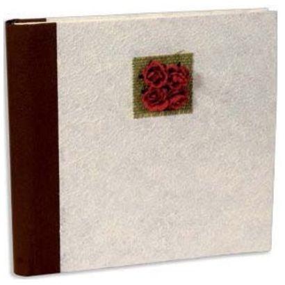Αλμπουμ Ριζοχαρτο Βαndi Paper 30X30Cm 30 Φύλλων Λευκό-Λουλούδια 12346