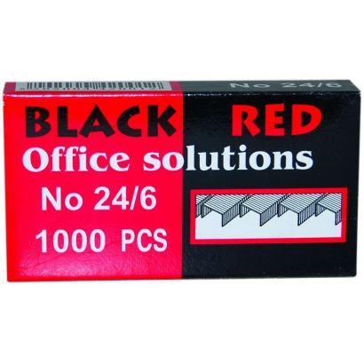 Συρματα Συρραπτικης Νο24/6 1000 Τεμαχια Black-red